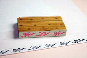 Image of LAST ONE Border rubber stamp