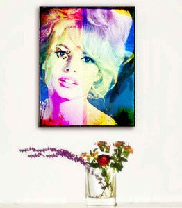 Image of ♥Retro Pop Art Canvas-Brigitte Bardot♥