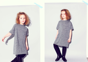 Image of Grey Wool Knit Dress