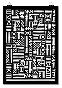 Image of MONOCHROME TRIBAL POSTER