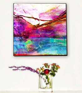 Image of ♥Abstract Retro Art Canvas-Landscape♥