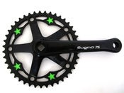 Image of Green stars - Black chainring