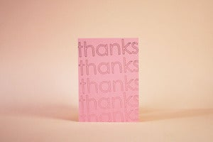 Image of Graphic Thank You Set