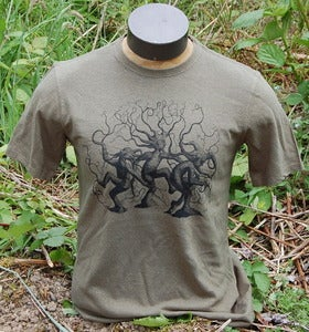 Image of Dancing Trees on Men's Hemp in Deep Sage