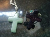 Image of Small Cross Necklace/Ring