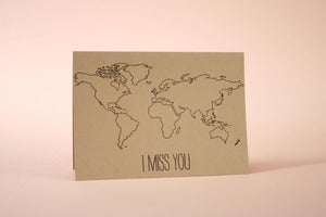 Image of I miss you card