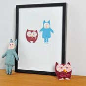 Image of 'Owl and Cat' Print