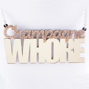 Image of Champagne Whore Necklace