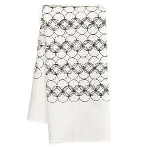 Image of White Circles Tea Towel