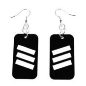 "Image of VLING CLASSIC ""VERVE"" Earrings made from a recycled vinyl record."