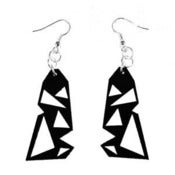 "Image of VLING CLASSIC ""SIRE"" Earrings made from a recycled vinyl record."