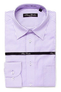 Image of KLAUSS KL11703 PURPLE PLAID SHIRT
