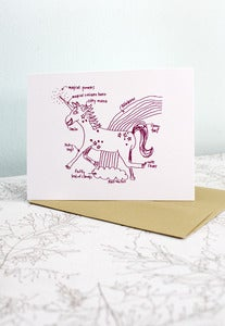 Image of Unicorn Love - Blank Note Card