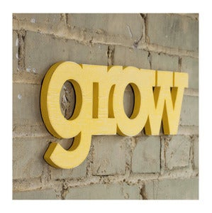Image of Grow block sign