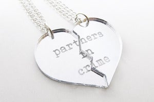 Image of Partners in Crime Necklace Set - Silver