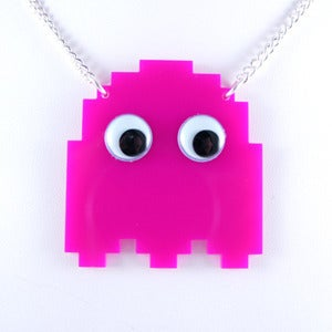 Image of Pacman Ghost Necklace