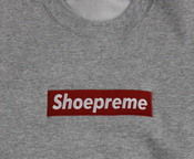 Image of Shoepreme Crewneck - Grey/Red