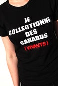 "Image of T-SHIRT ""Je collectionne des canards (vivants)"""