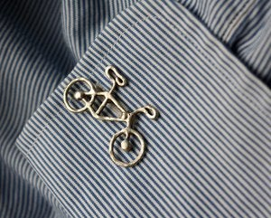 Image of Sterling Silver Bike Cuff Links