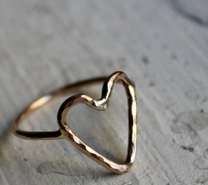Image of 14K Gold fill Heart Ring by Rachel Pfeffer