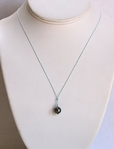Image of Tahitian Pearl Pendant with Aqua Silk