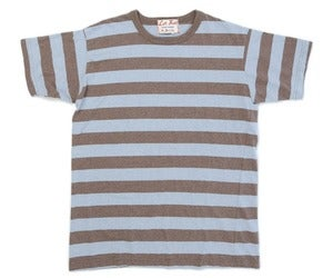 Image of Melange Yarn Dye Heather Brown / Chambray Surf Punk Tee