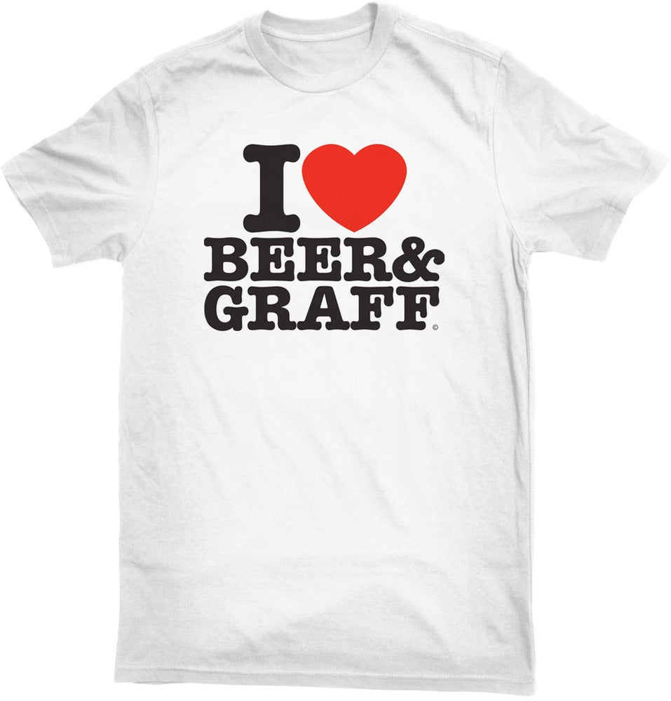 I love beer graff white i love beer and graff t shirt for I love beer t shirt