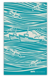 Image of Whitby Tea Towel - Lido