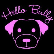 Image of Hello Bully Classic Logo Tee - Black with Pink