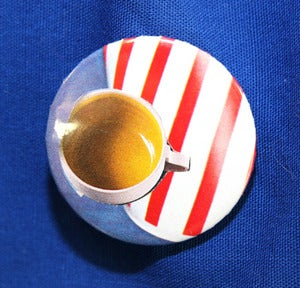 Image of BADGE MOTIF TASSE  CAF REF. 515