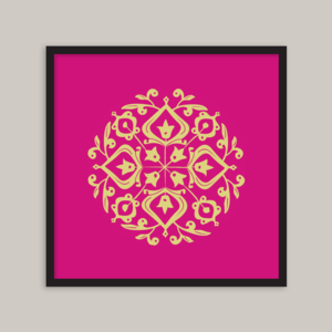 Image of Persian Glaze (gold/cerise) - 20x20cm