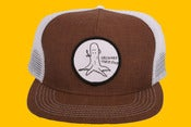 Image of Orchard Snap Back Mesh Hat - Ol' Stumpy Mocha Chambray