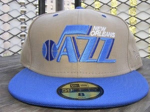 Image of New Orleans Jazz New Era Fitted Size 8