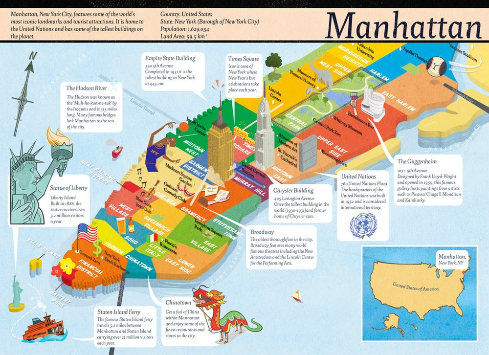Manhattan Map - Rboyden Manhattan Lrg