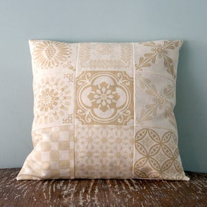 Image of Beige CUSHION COVER