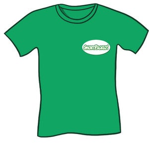 Image of Shortpacked! badge tshirt