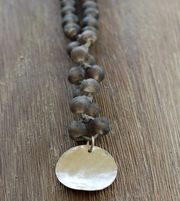 Image of Chunky Bead Necklace, Greige