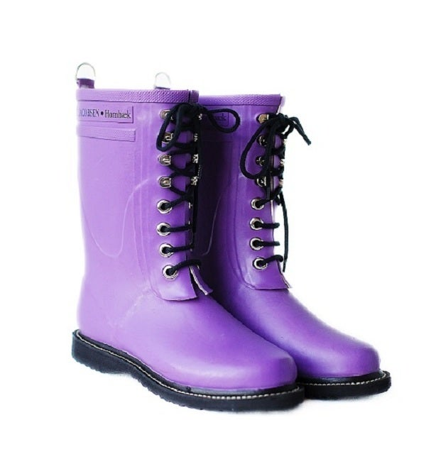 Image of Ilse Jacobsen Rubber Boots - Mid Calf, Purple