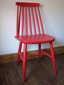 Image of Vintage Red Painted Chair