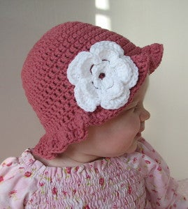 Free Crochet Pattern For Baby Floppy Hats :  CROCHET PATTERN FLOPPY HAT