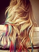Image of Color Tip Tie-Dye - Rainbow Look Extensions (30 per pack)