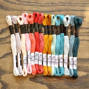 Image of Cosmo Embroidery Floss Palette : City Rain 