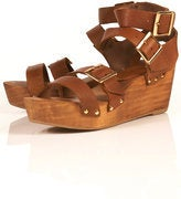 Image of Topshop Wonda Wooden Sandals 8.5