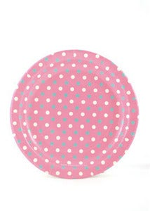 Image of Multi Pink & Blue Dots Party Plates