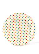 Image of Multi Rainbow Dots Party Plates
