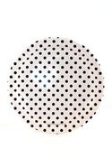 Image of Black/White Dots Party Plates