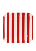Image of Candy Stripe Red Party Plates