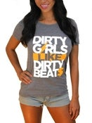 Image of DIRTY GIRLS LIKE DIRTY BEATS Women's Crew Neck in Heather Gray or Black