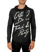 Image of Two Days Party Hoodie T Shirt - Men's Black