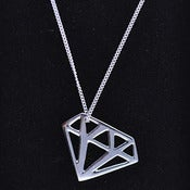 Image of Silver Diamond Pendant